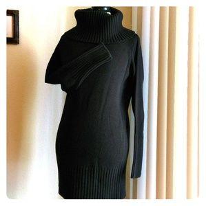 Black Turtle Neck Sweater Extra Long